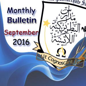 Monthly Bulletin September  2016