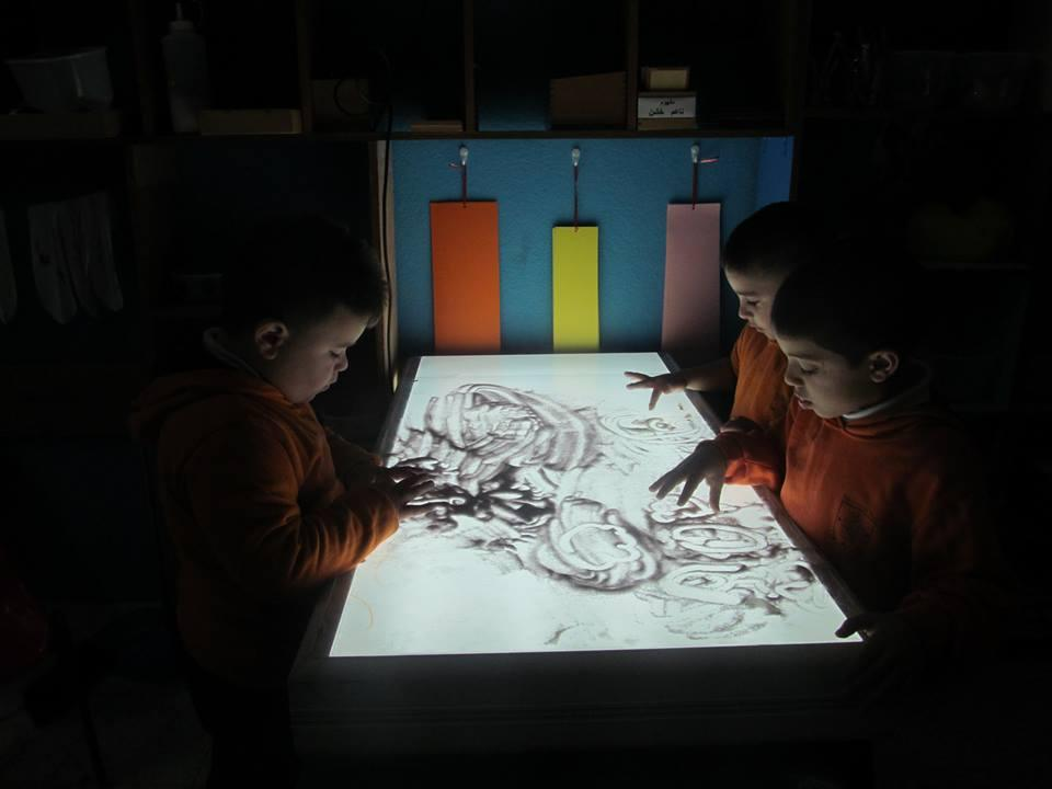Beit Jala:  Educational play light table