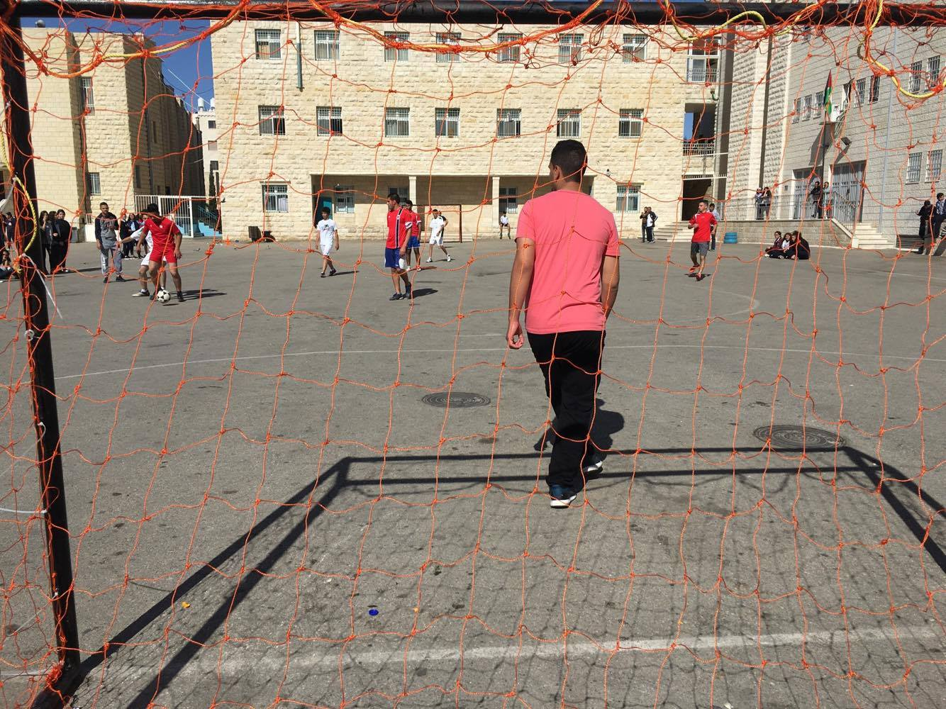 Ramallah – the Ahliya College in Ramallah organizes a Football