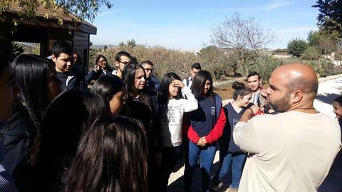 Beit Jala: 11th grade visits the Environmental Educational Center