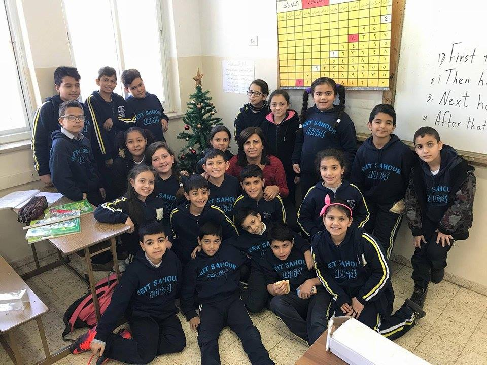 Beit Sahour - The school participates in various Christmas activities