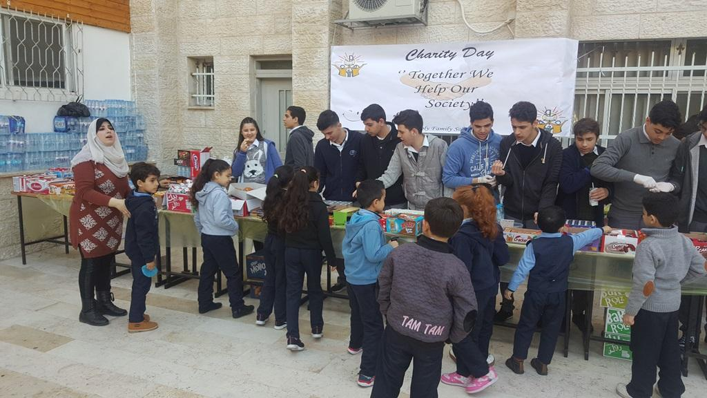 Gaza- Holy Family – students initiate to denote for the less fortunate