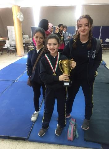 Nablus wins the first place in gymnastics