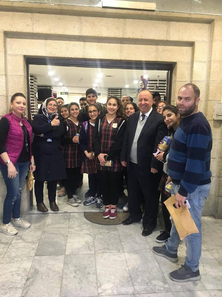 Nablus: 8th grade visits the Housing Bank within the banking week